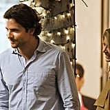 Bradley Cooper as Phil and his onscreen wife Gillian Vigman as Stephanie on the set of The Hangover Part III.