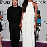 Derek Lam with Liya Kebede in his design