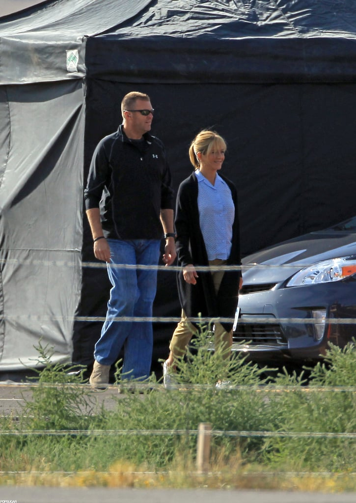 Jennifer Aniston was on the set of We're the Millers in New Mexico.