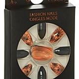 Orange and Black Halloween Nails ($2)