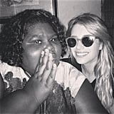 Emma Roberts and Gabourey Sidibe shared a snap (and, apparently, a secret).  Source: Instagram user emmaroberts6