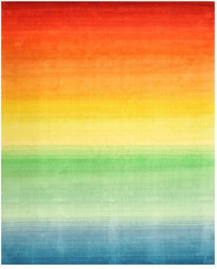 Hand-tufted Wool Multi Rainbow Rug ($230)