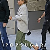 Jennifer Aniston and Justin Theroux shopped for furniture together on the Upper East Side in NYC.