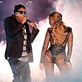 Beyoncé and Jay Z showed lots of steamy PDA during the opening night of their On the Run Tour in Miami in July 2014.