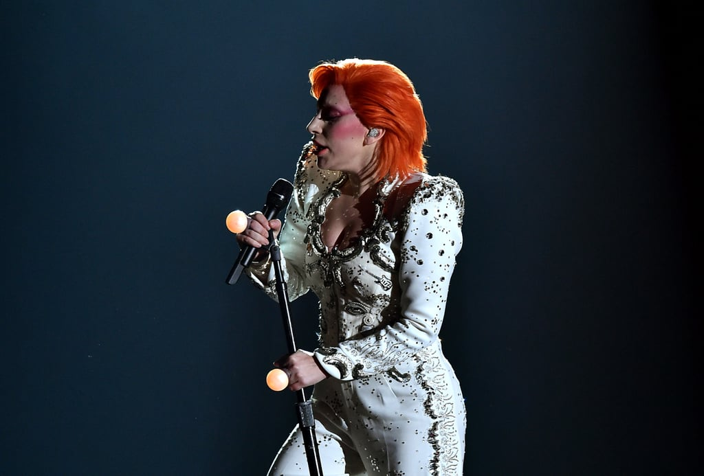 Lady Gaga Served Full David Bowie Fierceness at the Grammy Awards