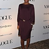 Kelly Rowland shows off a more subtly sexy holiday dressing alternative. The leopard sandals are the perfect ending.