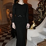 Jessica Chastain arrived at the CR Fashion Book cocktail launch party.
