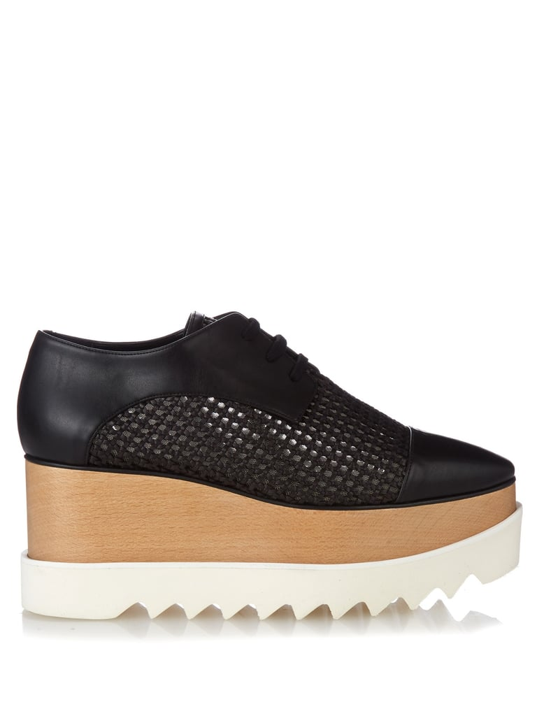 Stella McCartney Elyse lace-up platform shoes ($858)
