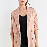 UO Double-Breasted Striped Blazer