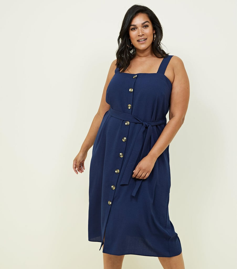 New Look Button through Midi Dress