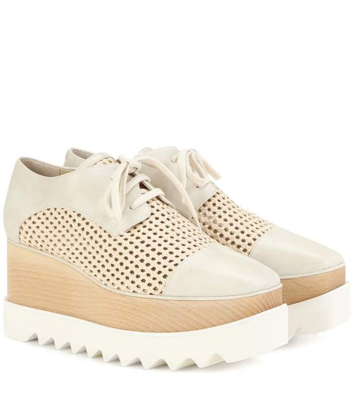 Stella McCartney Wicker Elyse platform derby shoes ($1,065)