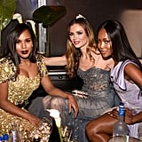 Pictured: Georgina Chapman, Naomi Campbell, and Kerry Washington