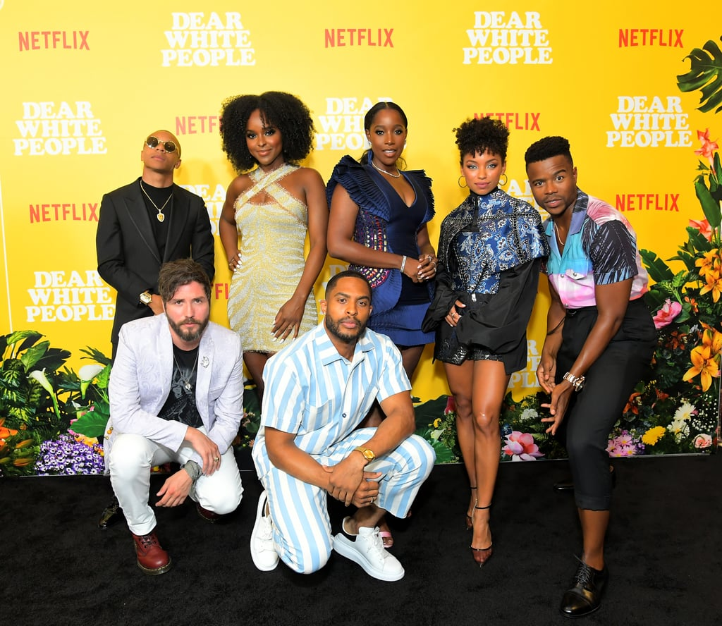 Netflix's Dear White People is coming back for its fourth season on Sept. 22, but its return is bittersweet as this will be the show's final run. Over the years, we've sung along to the show's powerful soundtrack, obsessed over the incredible cast, and learned plenty of important life lessons along the way. Even though Dear White People is coming to an end, it's clear the cast — Logan Browning, Brandon P. Bell, DeRon Horton, Ashley Blaine Featherson, Antoinette Robertson, John Patrick Amedori, and Marque Richardson — will continue to remain in each other's lives. As we get ready to bid farewell to the series, let's look back at some of the cast's cutest moments together.