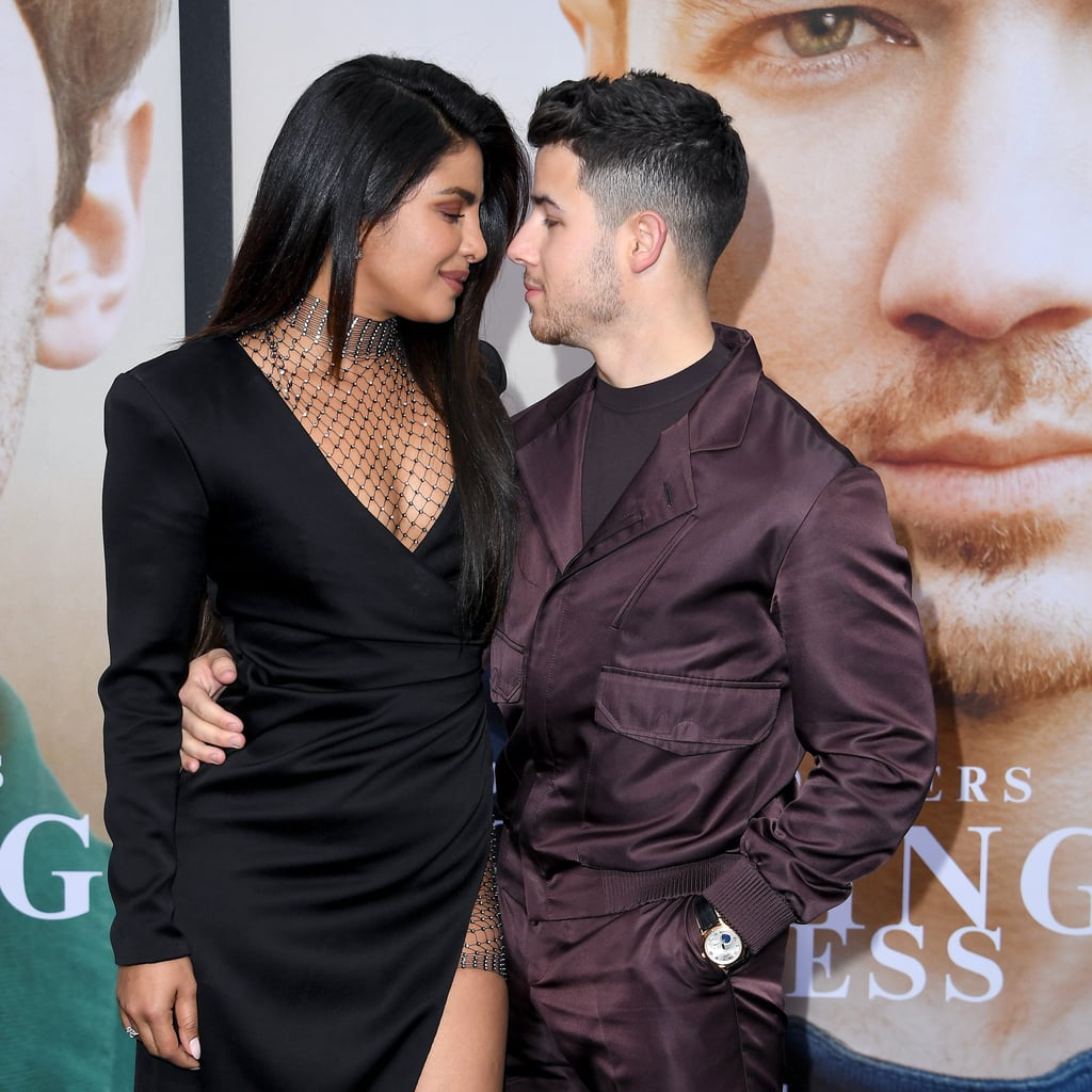 """The Jonas Brothers turned the Chasing Happiness premiere into a darling date night with their wives on June 3. Kevin, Joe, and Nick Jonas had the full support of their family at the LA event, which included sweet moments with Danielle, Sophie Turner, and Priyanka Chopra. How romantic!  The brothers announced the release of their Amazon documentary back in March, ahead of their Happiness Begins album launch on June 7. The documentary officially premieres on June 4, and will be an intimate look into the group's lives. Nick, Joe, and Kevin have been candid about their relationship as a family and as musicians since stepping back into the spotlight this year. """"This documentary hopefully will bring some families back together that maybe have had some tough times,"""" Nick told Entertainment Tonight at the premiere.      Related:                                                                                                           The Jonas Brothers Had the Support of Superfan John Stamos at the Wango Tango Music Festival"""