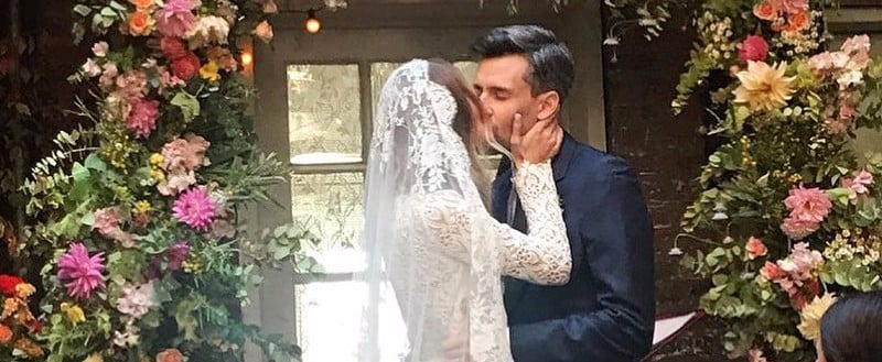 This Fashion Girl Just Wore the Lace Wedding Dress You Weren't Expecting