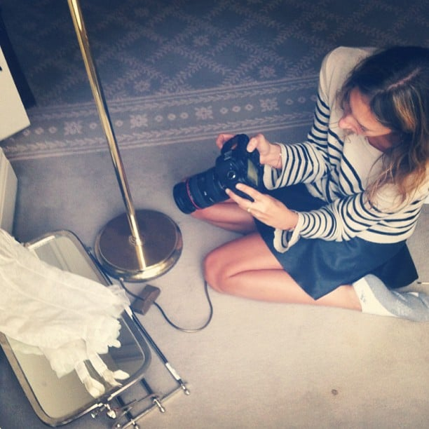 Australian stylist Romy Frydman was hard at work shooting ads for Simone Perele lingerie during the week. Source: Instagram user stylemeromy