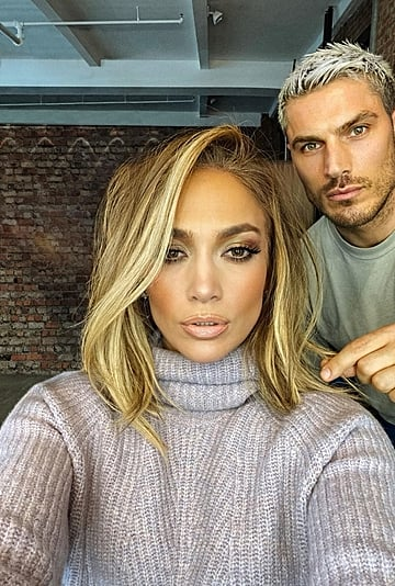 Jennifer Lopez's Blonde Lob Haircut