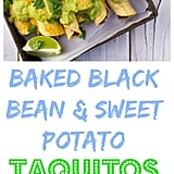 Baked Black Bean and Sweet Potato Taquitos