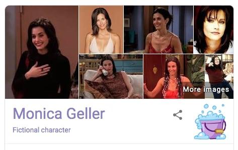 Monica Geller Friends Google Easter Egg
