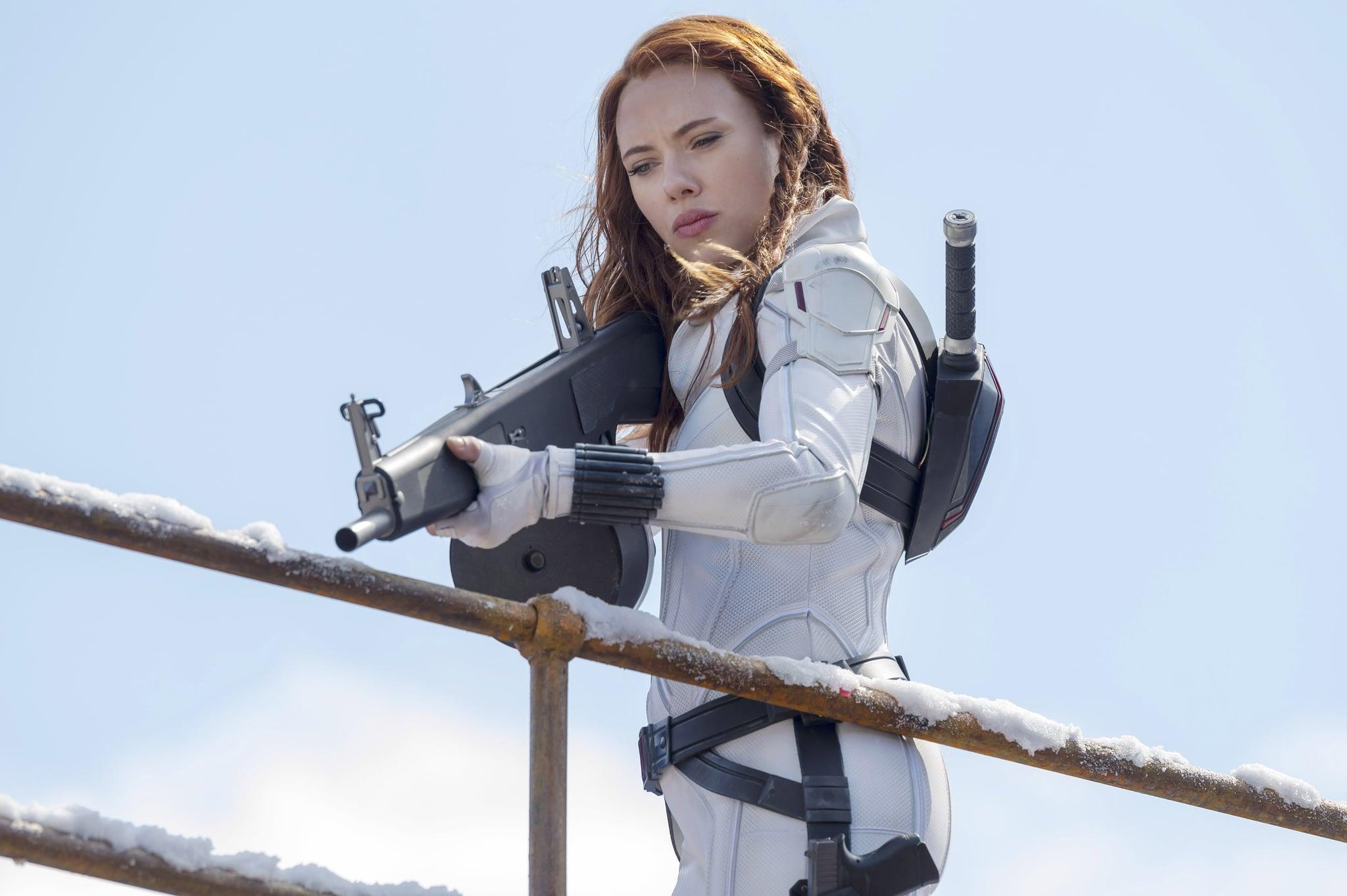 BLACK WIDOW, Scarlett Johansson as Black Widow, 2021.  ph: Jay Maidment / Walt Disney Studios Motion Pictures /  Marvel Studios / Courtesy Everett Collection