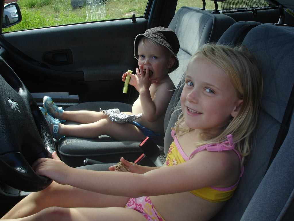 """""""It's OK to strap them in without a car seat; we're just going around the corner."""""""