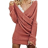 Glamaker Long-Sleeves Pullover Knit Dress