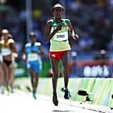 When an Ethiopian runner lost her shoe and continued to run.