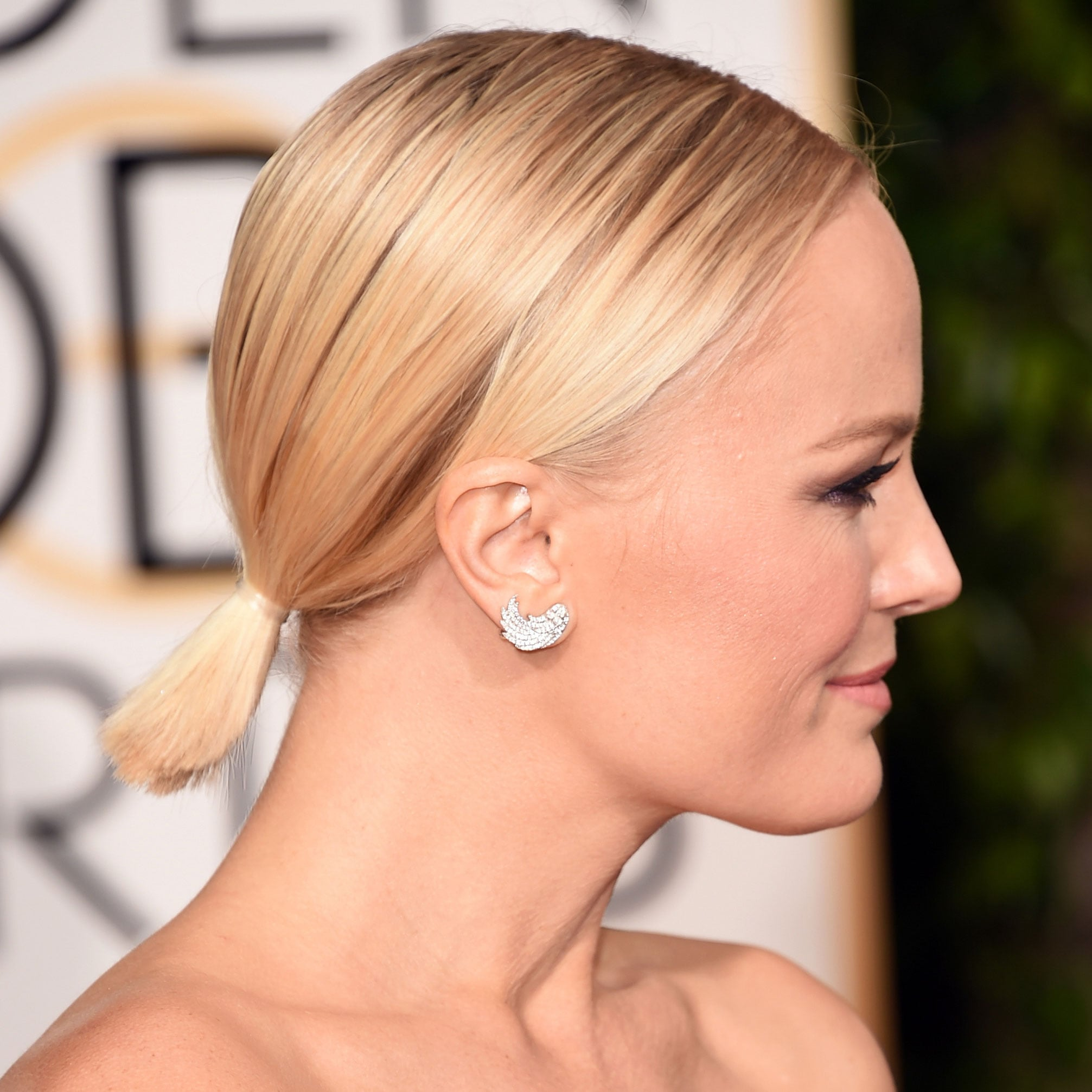 celebrity ponytail hair styles golden globes 2016 | popsugar