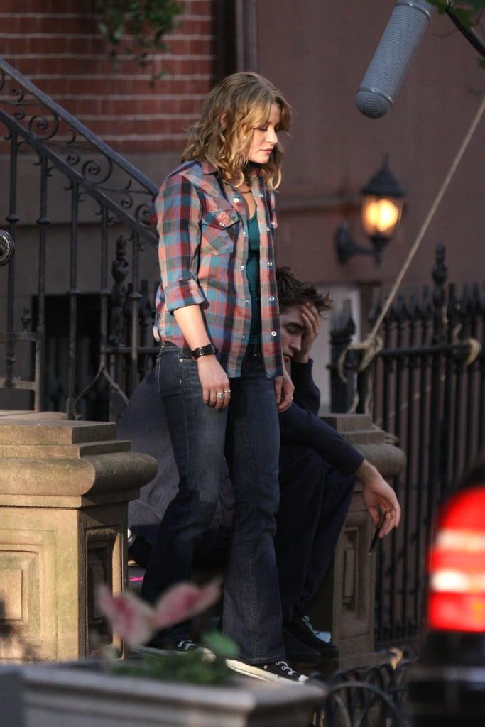 Robert Pattinson, Emilie De Ravin, Pierce Brosnan Filming Remember Me