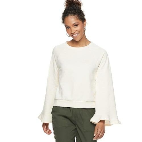 POPSUGAR Bell-Sleeve Sweatshirt