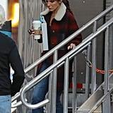 Sandra Bullock on the set of Ocean's Eight in New York on Oct. 24.