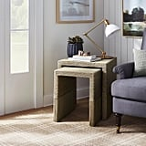 Set of 2 Woven Nesting Tables