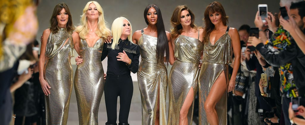 Donatella Versace Brought These OG Supermodels Back For Her Runway Show — and Nothing Was the Same