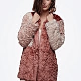Tri-Color Faux Fur Coat ($148)