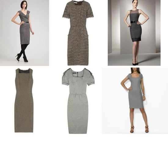 Shopping: Narrow Tweed Dresses For Fall
