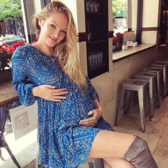 Candice Swanepoel Blue Bandana Dress Instagram May 2016