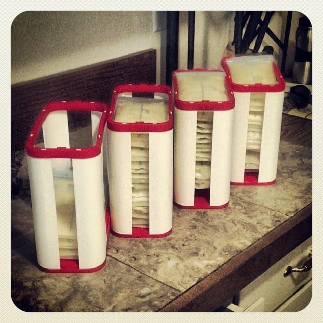 In a Milk Bag Storage Rack