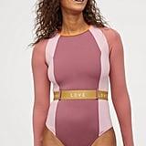 H&M Long-Sleeved Scuba Swimsuit