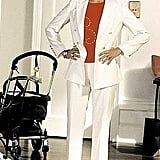 Who babysits in a white pantsuit?