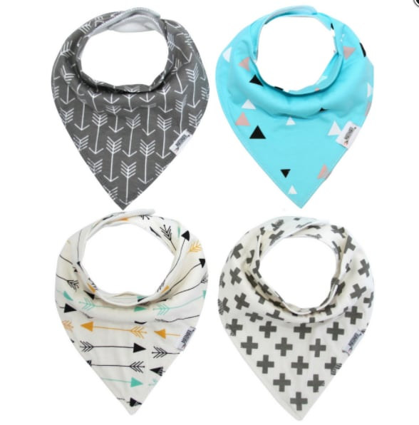 Matimati Baby Arrows & Triangles Bandana Bib Set