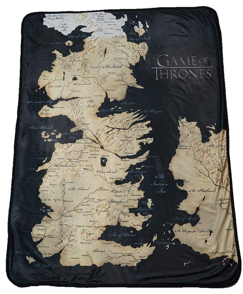 Map of Westeros Fleece Throw Blanket