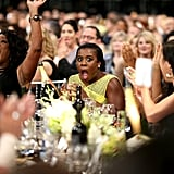 When Uzo Aduba won, she made this face, and we all cheered.
