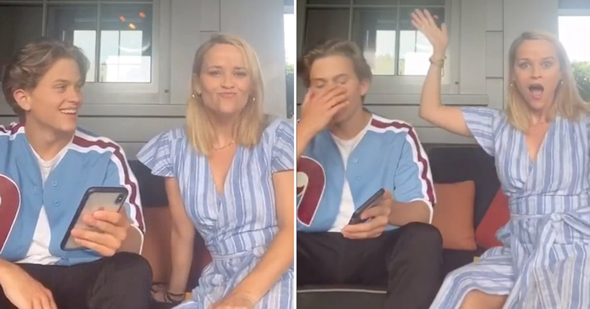 """Reese Witherspoon Embarrasses Deacon With a TikTok Dance to His First Single: """"No, Mom, No!"""""""