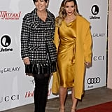 Kim Kardashian posed for snaps with her mother, Kris Jenner.