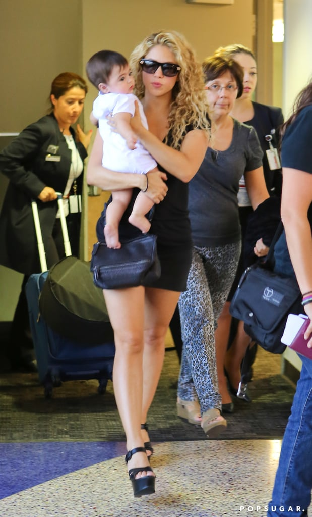 Shakira and her son, Milan, made their way through LAX.