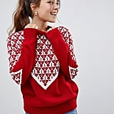ASOS Design Christmas Tree Knitted Jumper