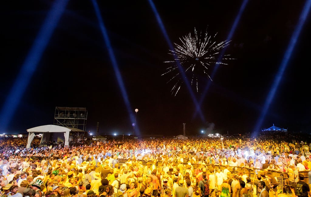 Fireworks after Widespread Panic in 2011.