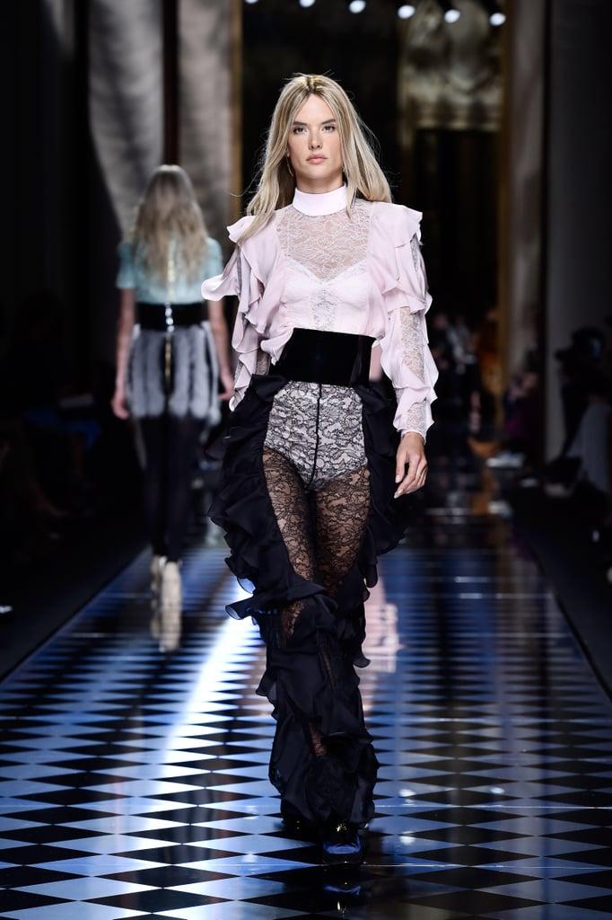 Alessandra Ambrosio Is Blond For Balmain Runway Fall 2016