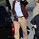 Jude Law Smiles on Contagion Set Following Sienna Split