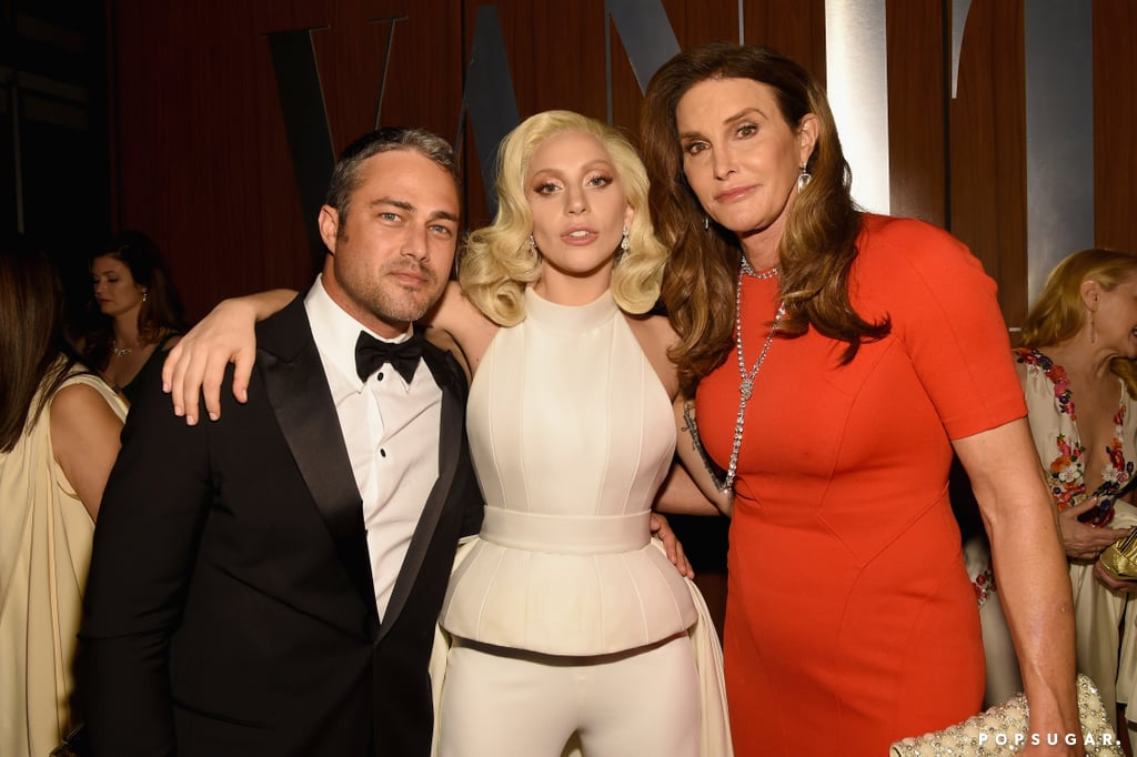 Pictured: Lady GaGa, Taylor Kinney, and Caitlyn Jenner